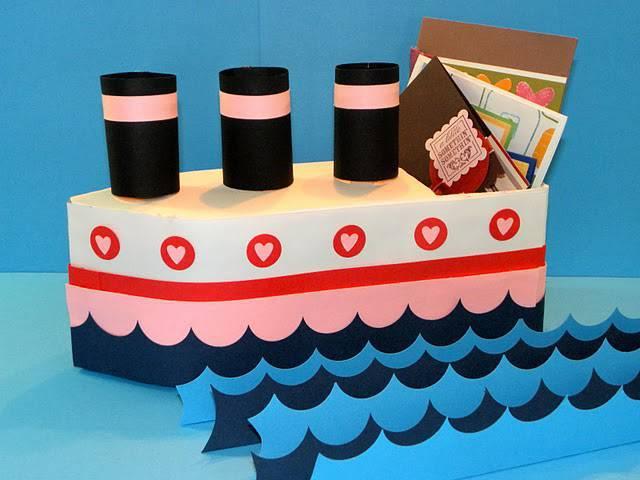 Artesanato com Caixa de Leite barco orgnizador