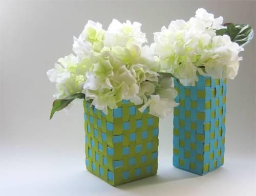 Artesanato com Caixa de Leite cachepot pasa vasos grandes