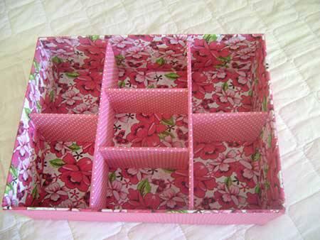 Artesanato com Caixa de Leite caixinha-de-joias