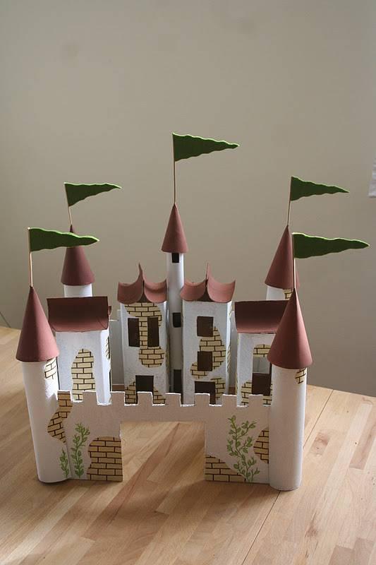 Artesanato com Caixa de Leite castelo grande