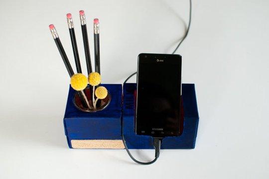 Artesanato com Caixa de Leite porta celular