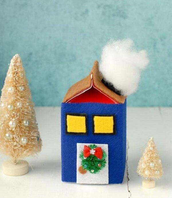 A caixa de leite foi utilizada para formar uma linda casa