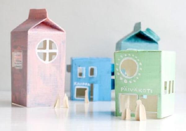 Construa casinhas com caixa de leite