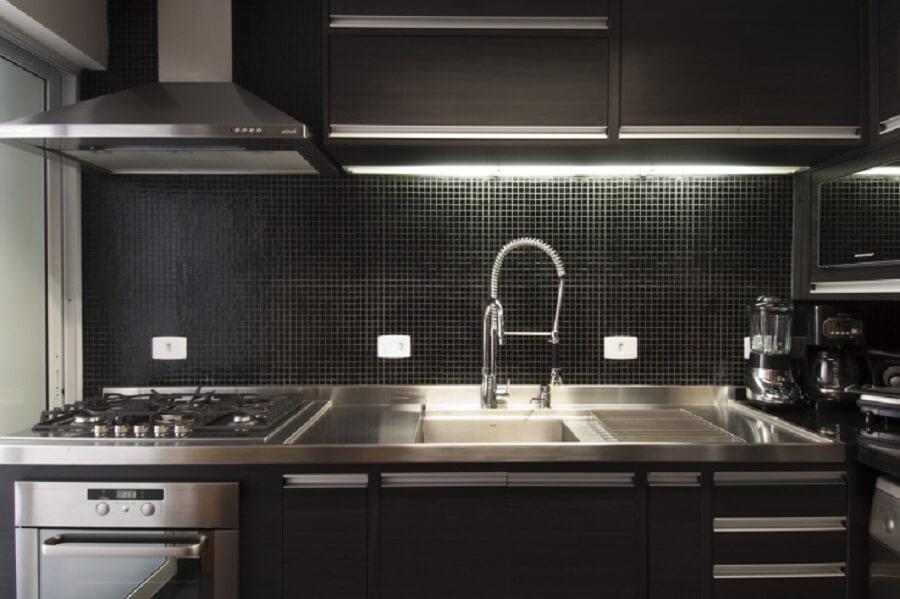 Pastilhas para cozinha em cor preta