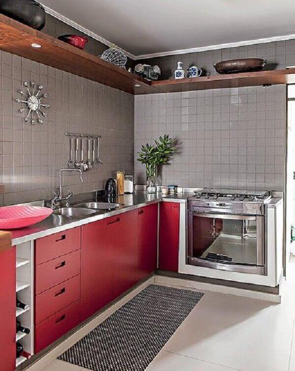 Pastilhas para cozinha na cor cinza