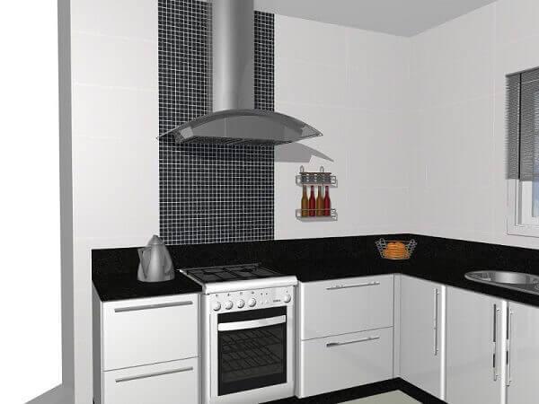Pastilhas para cozinha preto em branco