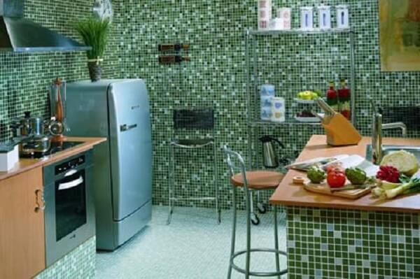 Pastilhas para cozinha verde