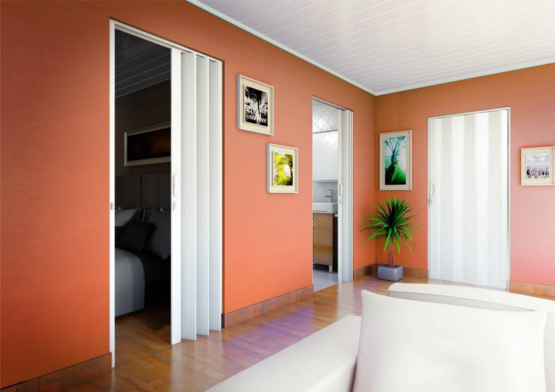 porta sanfonada polifort sala