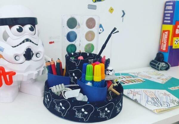 Porta-treco criativo feito de artesanato de caixa de leite