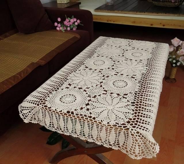 caminho de mesa de croche mesa de centro