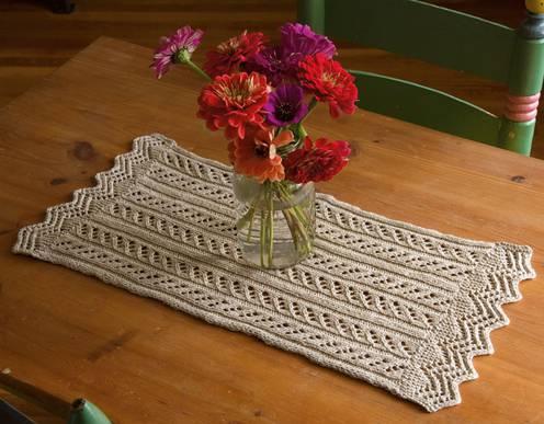 caminho de mesa de croche ratandulo pequeno