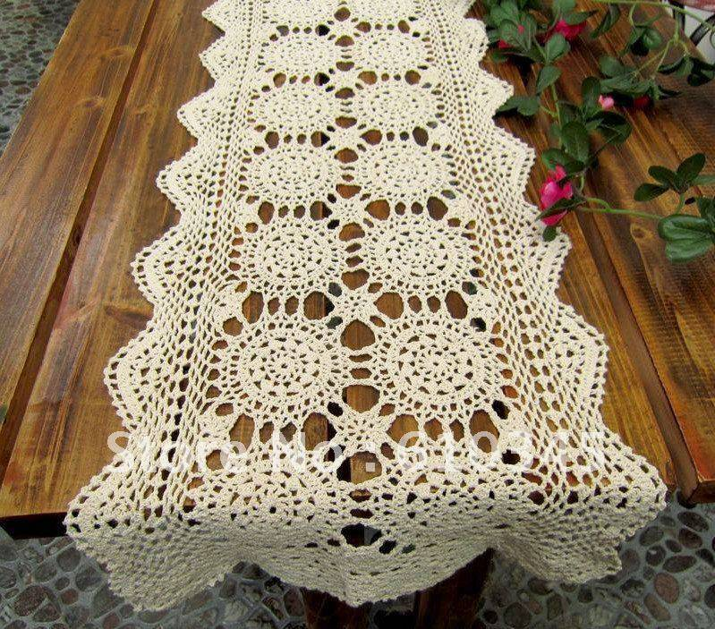 Free Vintage Crochet Table Runner Patterns : +de 50 Fotos de Caminho de Mesa de Croch? Encantadores