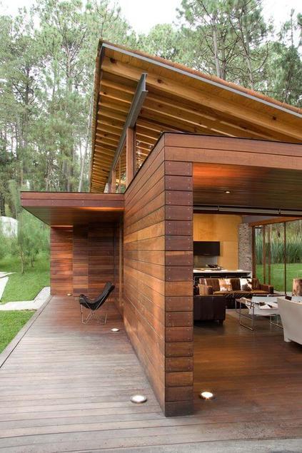 casas de madeira - área externa de casa de madeira