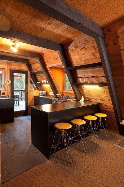 casas de madeira - área interna de casa de madeira