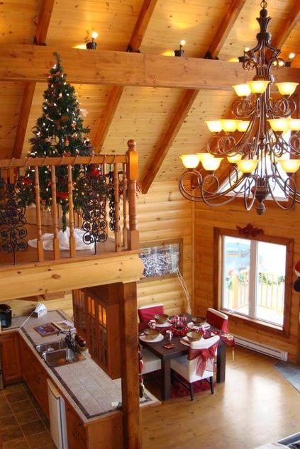 casas de madeira - casa de madeira com decoração natalina