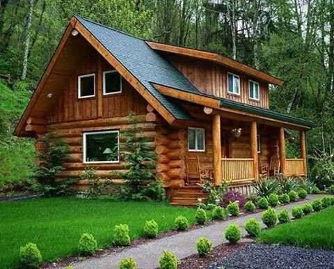 casas de madeira - casa de madeira com jardim