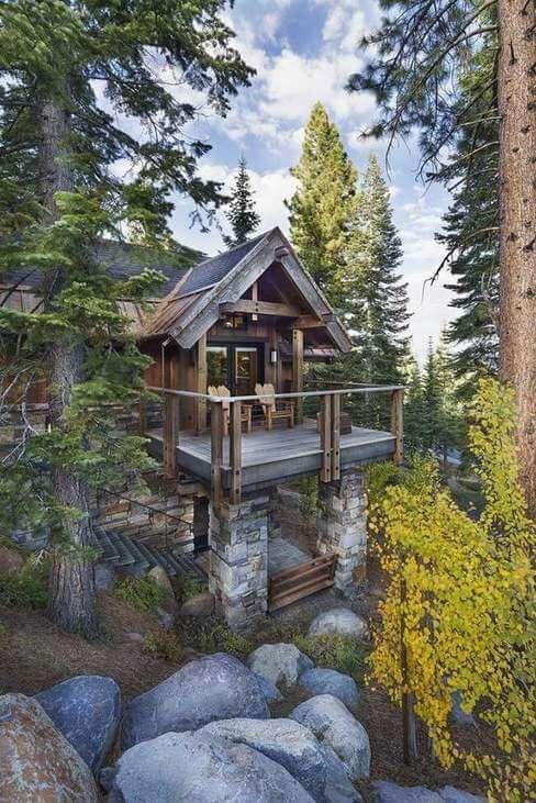 casas de madeira - casa de madeira em pico