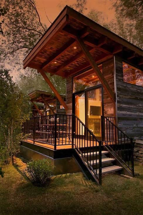 casas de madeira - casa de madeira rústica