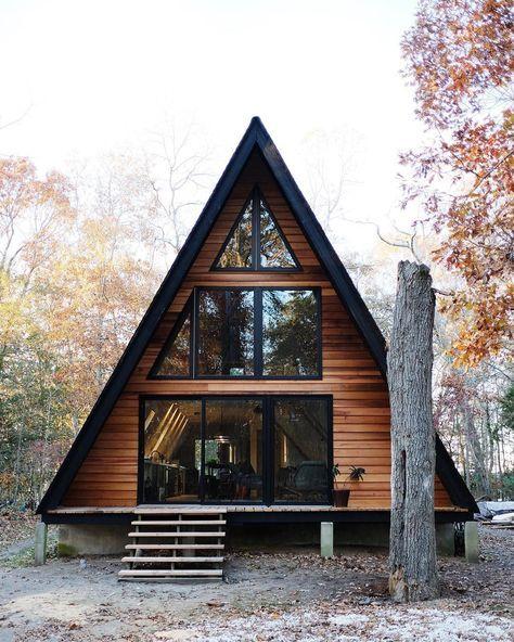 casas de madeira - casa telhado de madeira
