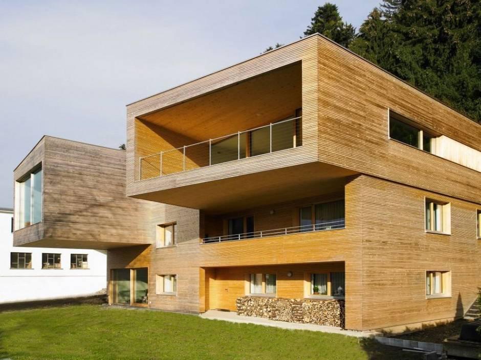 casas de madeira com arquitetura diferente