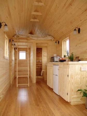 casas de madeira com espaço otimizado