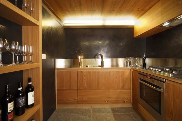 casas de madeira cozinha moderna