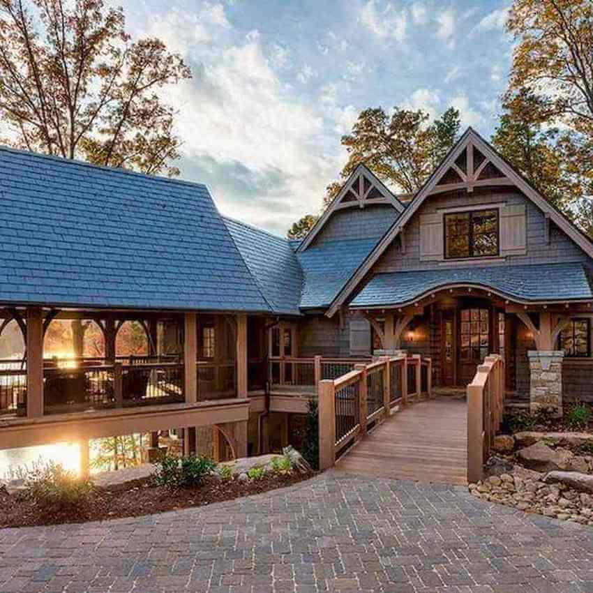 casas de madeira - entrada de casa de madeira
