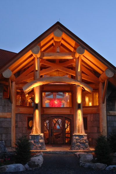 casas de madeira - fachada de casa de madeira