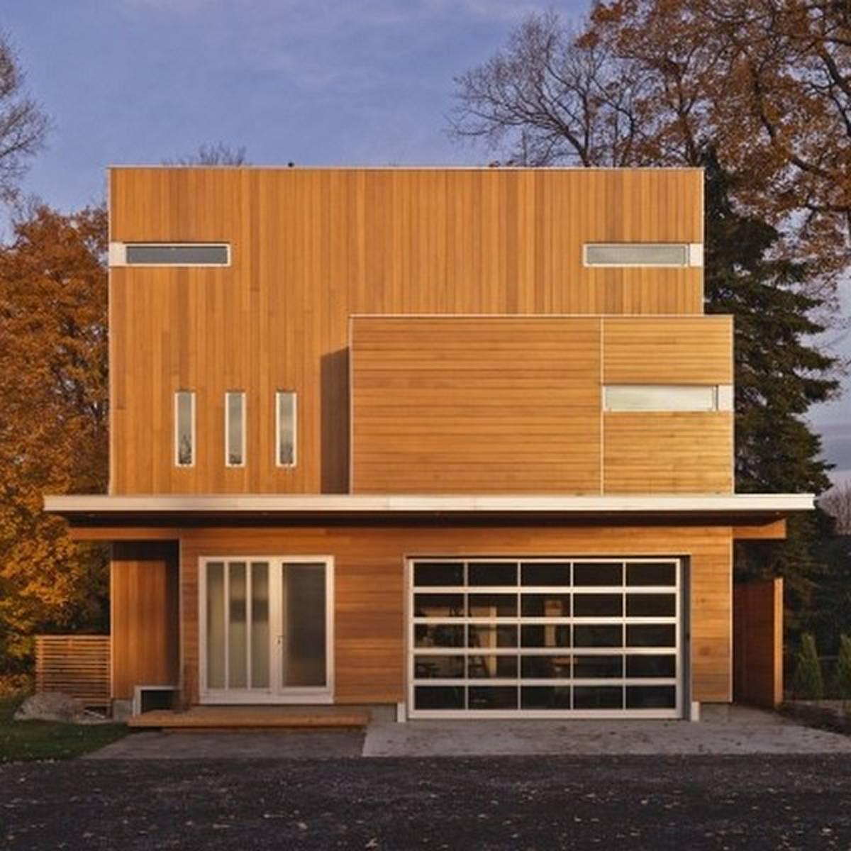 casas de madeira fachada moderna