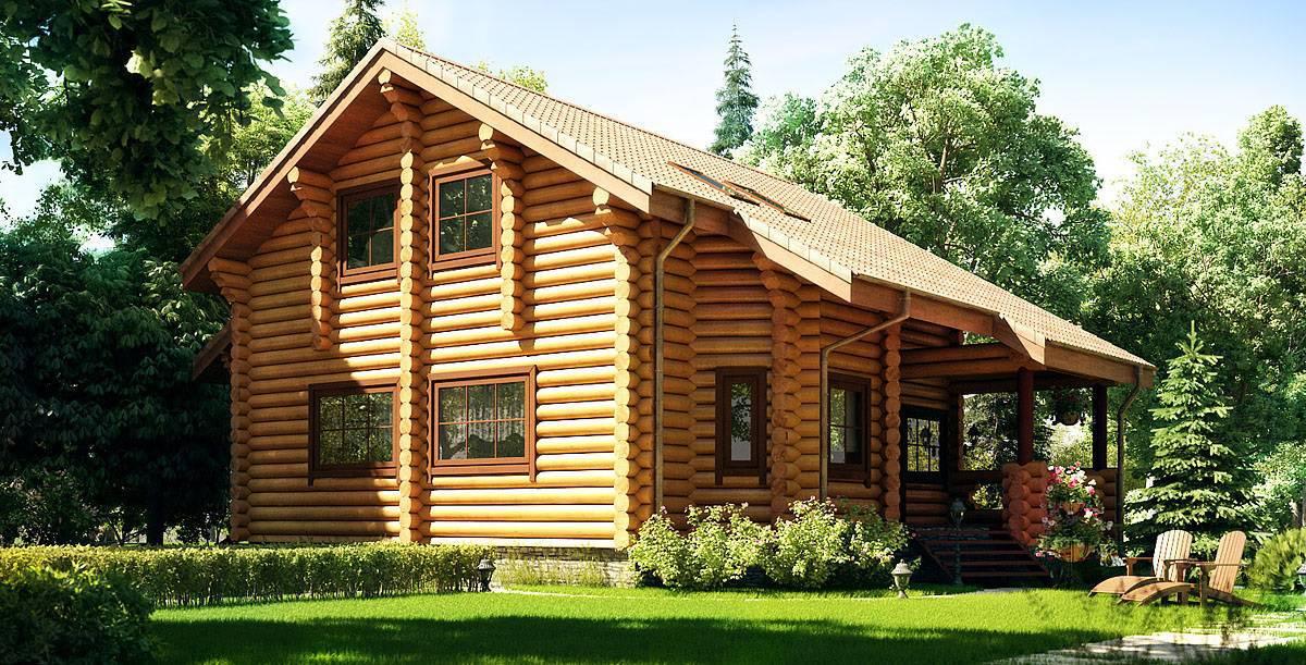 casas de madeira no campo