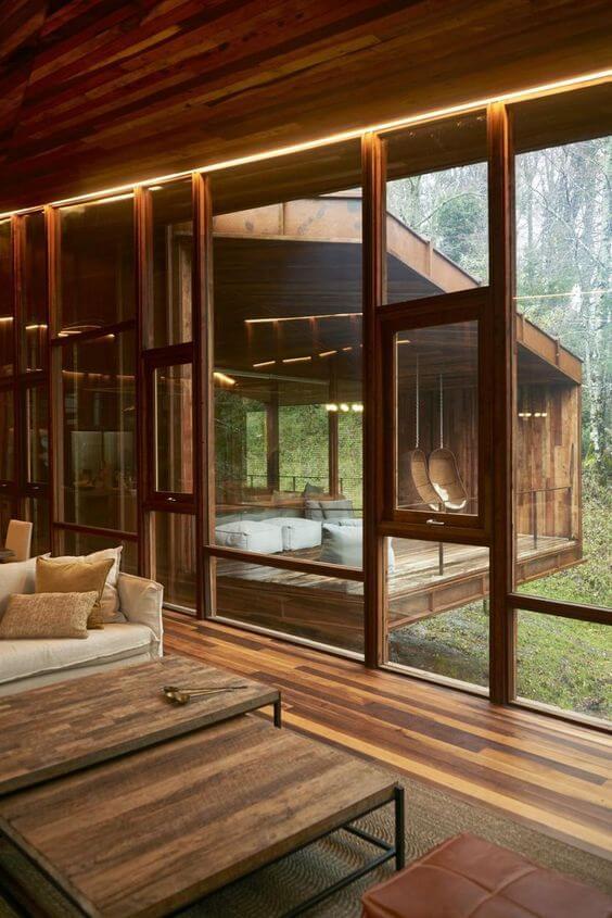 casas de madeira - parte interna de casa de madeira