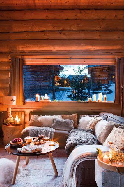 casas de madeira - sala de casa de madeira pequena