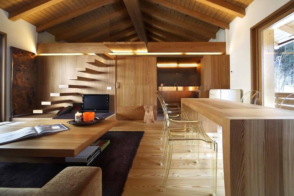 40 modelos de casas de madeira dicas essenciais for Case moderne interni open space