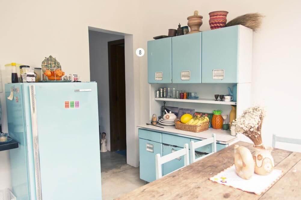 Cozinha compacta retrô Projeto de Casa Aberta