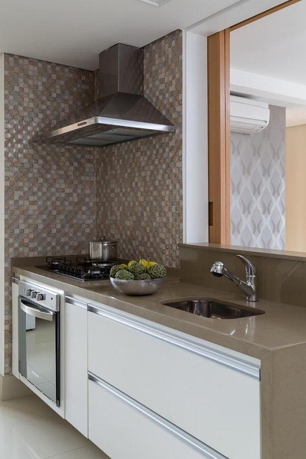 Decoração de cozinha com pastilhas de vidro
