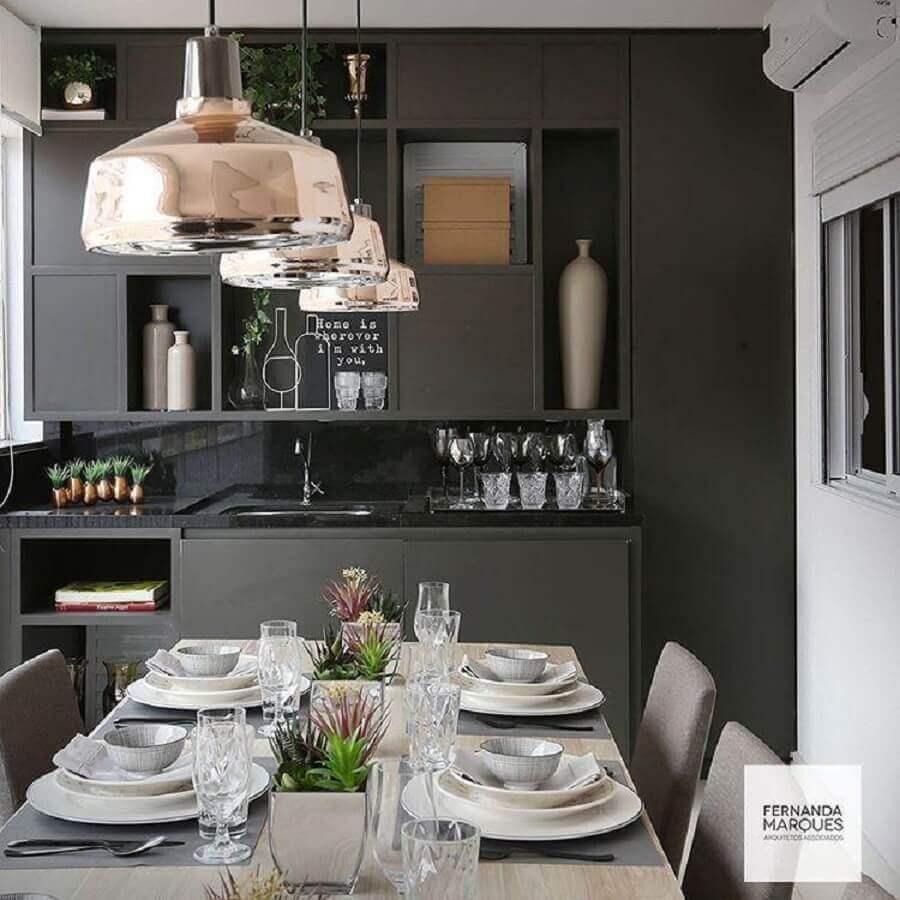 estilo moderno para armário de cozinha compacta