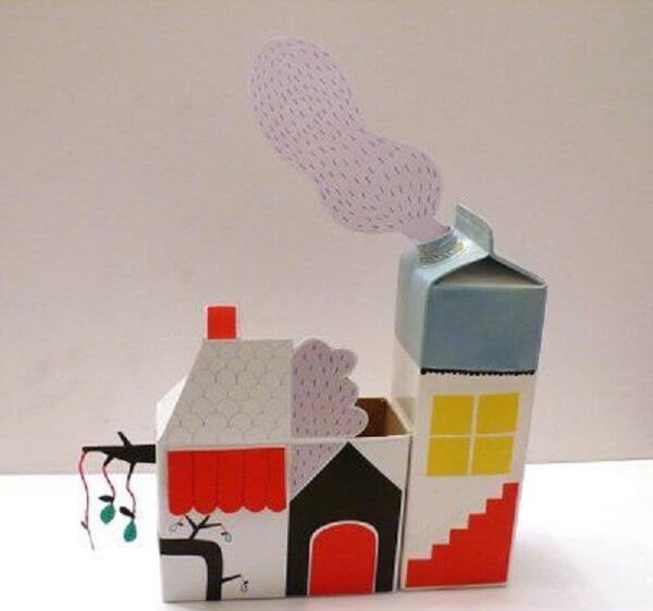 Enfeites criativos feitos com caixa de leite
