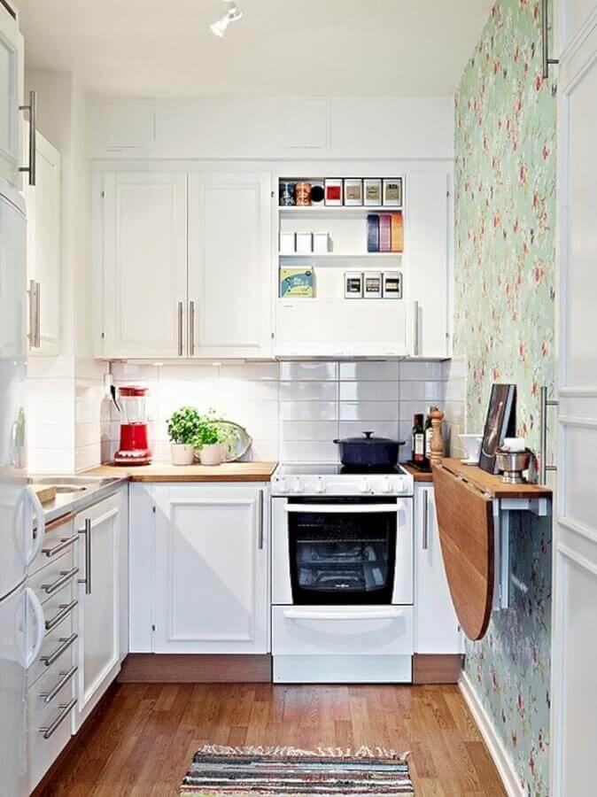 mesa dobrável para cozinha compacta branca