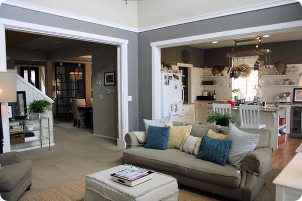 piso de cimento queimado sala de estar