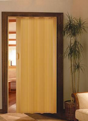 porta sanfonada na cor bege