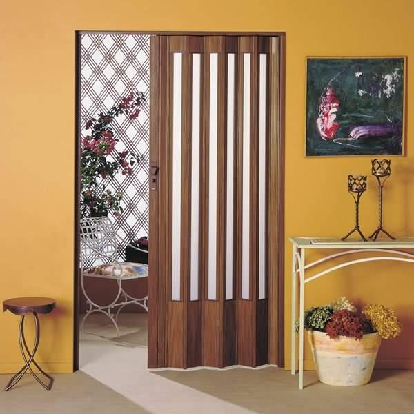 porta sanfonada pvc translucida