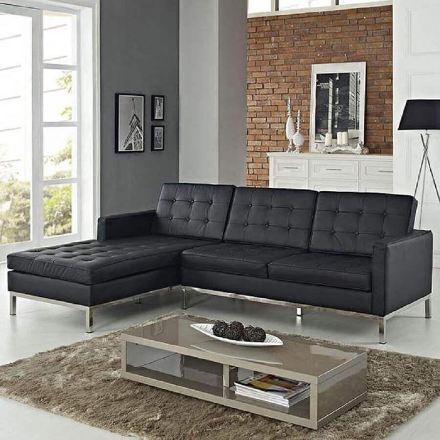 Como escolher um sof com chaise para sala de estar for Sofas modernos para salas pequenas