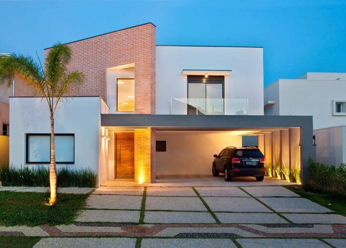 Casas bonitas 40 modelos incr veis modernos e inspiradores for Modelo de fachadas de viviendas