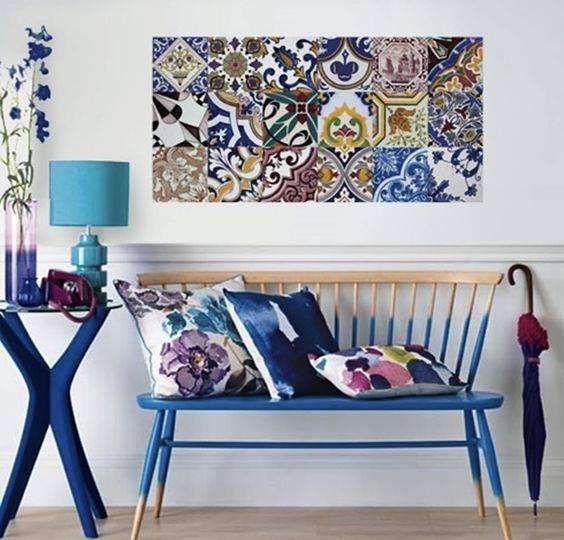 Adesivo para Azulejo na sala de estar