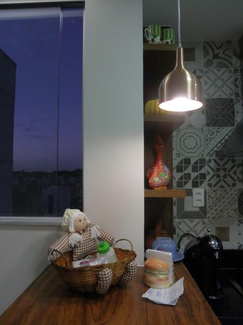 Adesivo para azulejo de cozinha com estampas neutras Projeto de Studio C