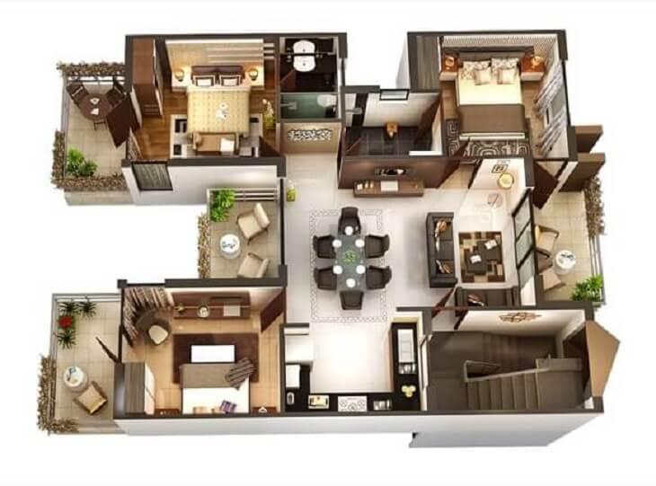 As plantas de casas promovem o conforto os moradores