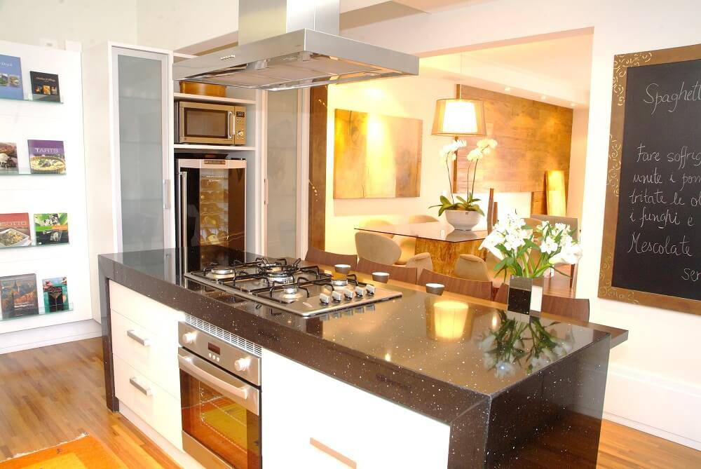 Cozinhas Modernas Ilha - Projeto de Liliana Zenaro