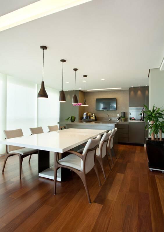 Cozinhas Modernas Iluminação - Projeto de Liliana Zenaro