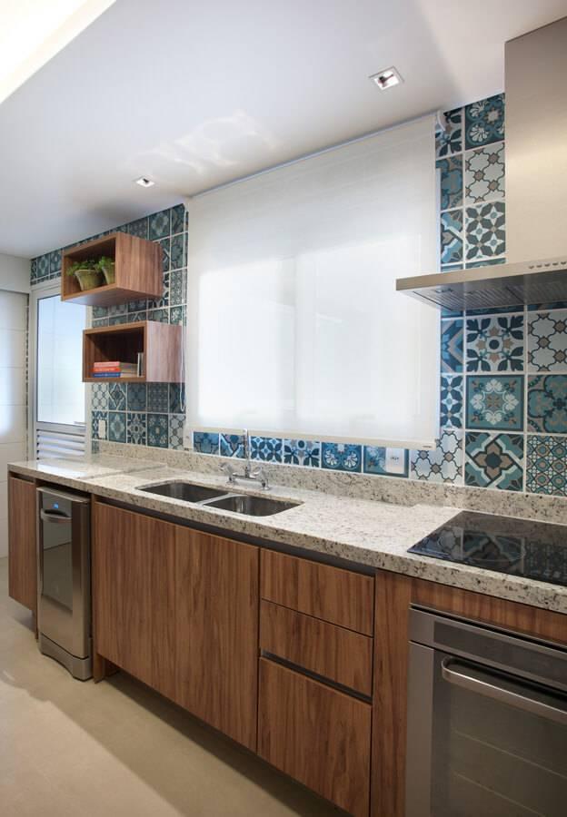 Cozinhas Modernas Revestimentos - Projeto de Liliana Zenaro