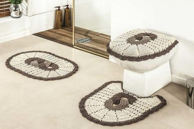 Jogo de banheiro de crochê. Fonte: Pinterest